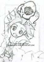 Lil' Jing and Kir WIP by KeyshaKitty