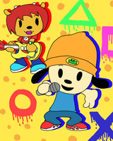 Minis #05: Parappa and Lammy by SpongeDudeCoolPants