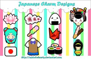Japanese Charm Designs by MidniteHearts