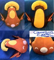 Stunfisk Pokemon Plush! Life size! by GuardianEarthPlush