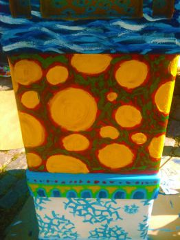 Box Painting - Back Detail by golddew