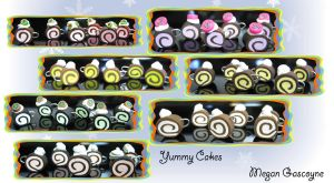Yummy Roll Cake Charms by skookyspry