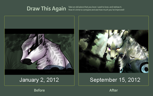 Redraw Meme! 9 month span by Capukat