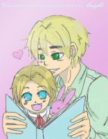 Hetalia: England and Baby America by ExclusivelyHetalia