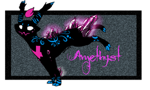 Amethyst (Custom Wisp Cat made for me by Wolfvids) by AlmightyWonderwaffle