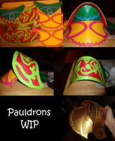 Pauldron 1 WIP by boxthissideup