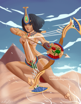 Neith - Weaver of fate by BrittniDraws