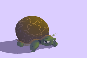 Challange Day 2 - Favorite Animal (turtle) by OfTheVirtus