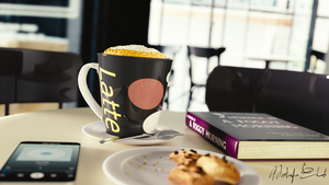 Breakfast in the cafe - 3D by M-Ehab
