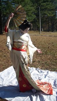 Geisha Fan 1 by themuseslibrary
