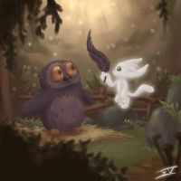 Ori and Kuro's Owlet by Jopilatje