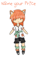 Fox Girl Adoptable {Name your Price!} -- CLOSED! by acidicapple