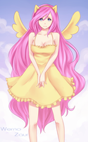 Fluttershy + SPEEDPAINT by Wernope
