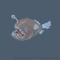 Pixel Anglerfish by bensigas