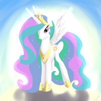 MLP Princess Celestia by Mewyk91