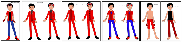 Neros' outfits in Detective Pikachu: Case Closed by DisneyBrony2012