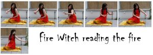 fire witch reading the fire by syccas-stock