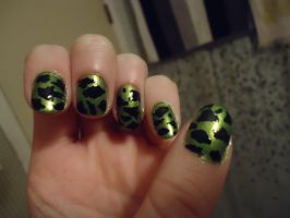 Lambo Inspired Nails-Left by pockyXbandit