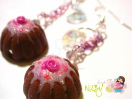 Petite Bundt Cake earrings by colourful-blossom