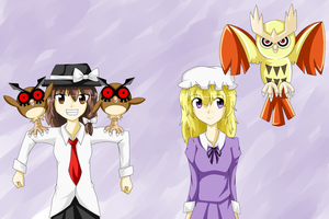 Touhou Sealing Club x Pokemon Crossover by Babero