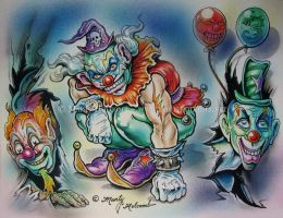 Three Clowns by Artistic-Tattooing
