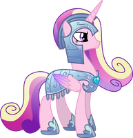 Princess Cadance in Royal Armor by TheShadowStone