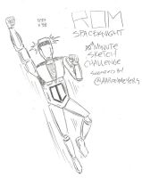 ROM Spaceknight 10 Minute Sketch by MonkeySquadOne