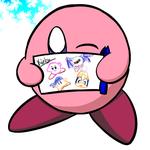 Kirby wants to share his drawings! by Manueljlin
