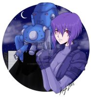 Major Kusanagi 4 Neon-Stitches by chibitora0