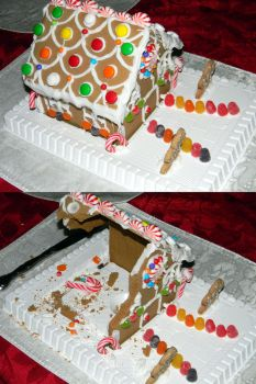 Deconstructed Gingerbread House by stardust4ever