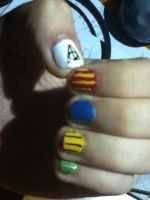 Hogwarts House Nail Design by BookWizard