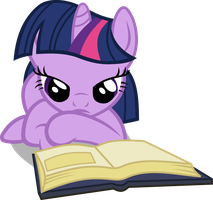 Reading Twilight vector by PhilomenaThePhoenix