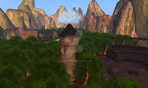 Forest valley DP mountain by TERABBS