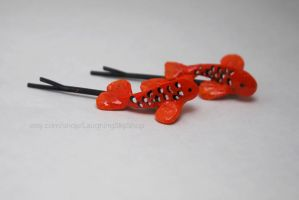 Koi Hair Clips by Laughing-Sky