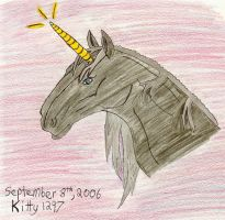 Unicorn for B1ueWo1f by Kitty1297