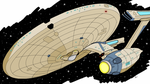 Star Trek Sketch no. 2 - Constitution Refit by Sly-Lupin