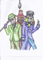 Go team Hat Riddler Scarecrow by Jazzy-Bunny