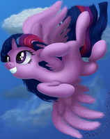 Flight of the Twilicorn by DeathPwny