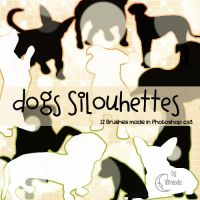 Dogs Silhouettes Brushes by Coby17
