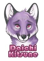 Daichi Kitsune Badge Commission by GoldenDruid