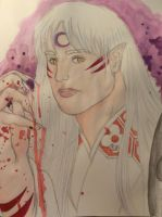Sesshomaru by SquigglyButterfly