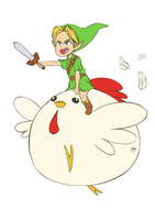 Cucco into battle by WTFmoments