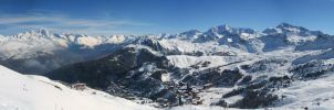 Snow Panorama by Olendel