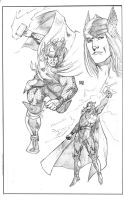 Thor sketche by wgpencil