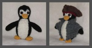 Amigurumi Captain Jack Penguin by kamidake