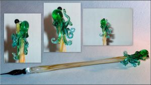 Cthulhu / Steampunk Pen - Giveaway April 2013 by Glasmagie