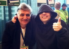 Me with Maurice LaMarche by GamerSpax