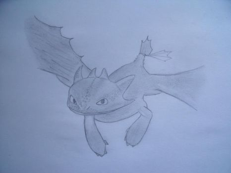 Toothless by Drawingdude1098