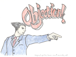 Phoenix Wright Objection by ch1ps0h0y