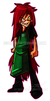 Chibi Commission: Grell - Starbucks by Digimitsu